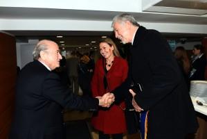José Fortunati e Presidente da Fifa Joseph Blatter. Foto: Divulgação.