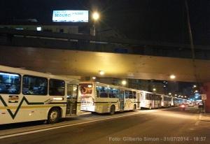 Av. Protásio Alves teve grande fileira de ônibus no horário de pico. Foto: Gilberto Simon