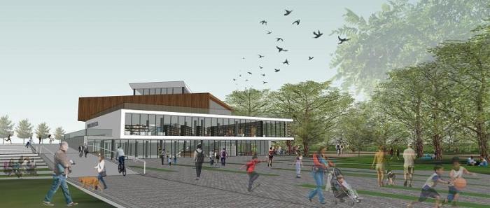 Biblioteca é inspirada nos Cafés Literários de árques no chile e em bibliotecas-parque de Bogotá e Rio de Janeiro  Crédito: Octo Coletivo e Arquitetura Empática / Reprodução / CP