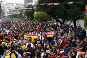 Caminho do Gol acolheu todas as torcidas e animou a cidade Foto: Joel Vargas/PMPA