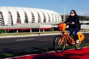 Estação na Rua A é a 40ª do sistema de bicicletas que completa dois anos Foto: Thalles Campos/Divulgação PMPA