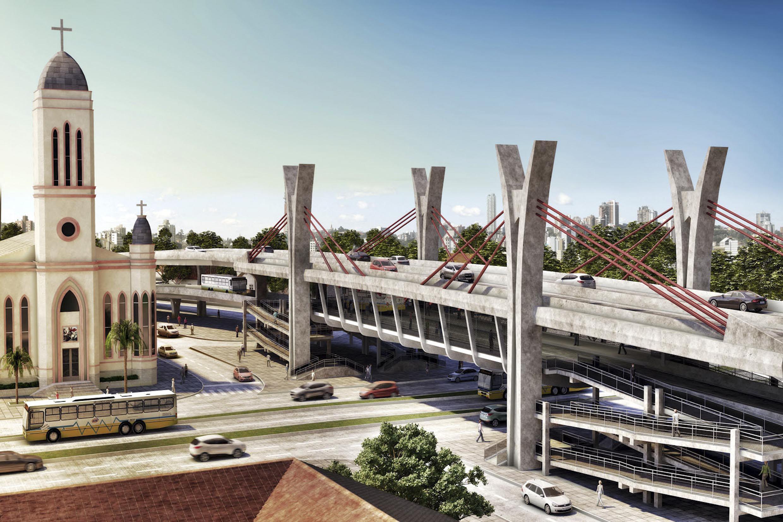 #40638B Imagens dos novos viadutos e passagens de nível em Porto Alegre 544 Janelas Em Aluminio Em Porto Alegre