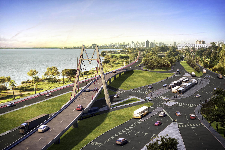 #244AA7 Imagens dos novos viadutos e passagens de nível em Porto Alegre 104 Janelas De Vidro Em Porto Alegre