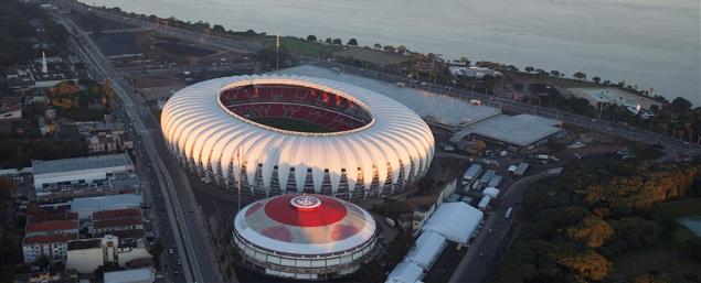 Beira-Rio, em Porto Alegre, conquista certificado LEED(crédito: Divulgação/Portal da Copa)