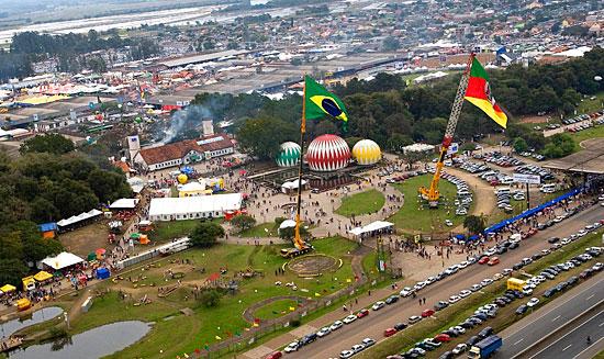 Expointer - vista aérea da gigantesca feira em Esteio - Foto: Itamar Aguiar / Palácio Piratini