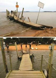 O Pier de Ipanema dias atrás. Fotos: Luis Reis via Facebook