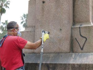 Técnica não provoca danos aos monumentos|Foto: Flavia B.L./PMPA