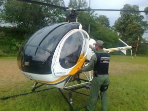 BM usa helicóptero para reforçar segurança em bairro de Porto Alegre | Foto: Álvaro Grohmann / Especial / CP