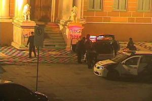 Prefeitura identificou pichadores por meio do videomonitoramento | Foto: Reprodução / PMPA / Divulgação / CP