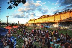 Ocupação cultural do cais Estelita, no Recife. Página do Resiste Estelita / Facebook
