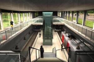 Modelo de estação de nova linha do metrô de Porto Alegre Foto: Prefeitura de Porto Alegre / Divulgação