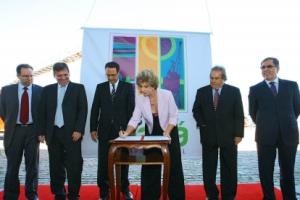 Contrato de revitalização do Cais Mauá foi assinado no último ano do governo de Yeda Crusius | Foto Divulgação Palácio Piratini