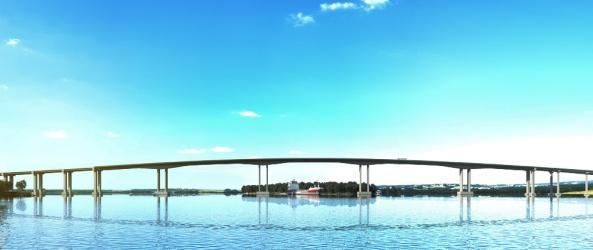 Nova ponte pretende desafogar o tráfego na região   Foto: Divulgação/Dnit