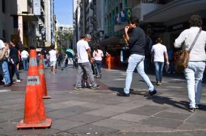 Projeto para a rua dos Andradas será o primeiro a ser realizado Foto: Caco Belmonte/Divulgação/PMPA