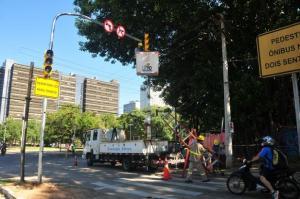 No binário, semáforos passarão de sete para 17 | Foto: Tarsila Pereira