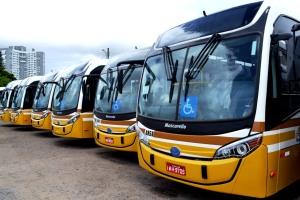 Inicialmente, serão 13 veículos convencionais com ar e acessibilidade Foto: Hudson Nogueira/Divulgação PMPA