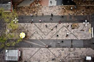 Rua dos Andradas e orla estão entre os projetos que o prefeito apresentará Foto: Guilherme Santos/PMPA