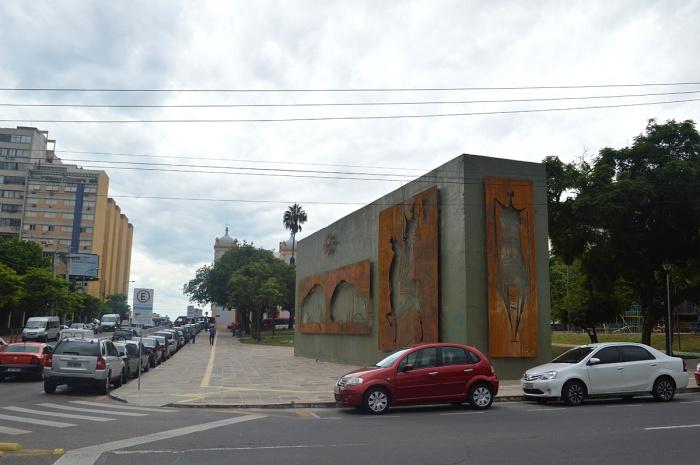 Painéis de Xico Stockinger. Foto: Gilberto Simon - Porto Imagem. 23/02/2015