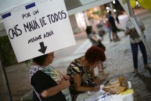 Evento colheu assinaturas | Foto: Guilherme Santos/Sul21
