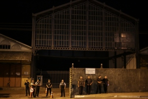Seguranças impediam a entrada no próprio Cais durante o evento | Foto: Guilherme Santos/Sul21