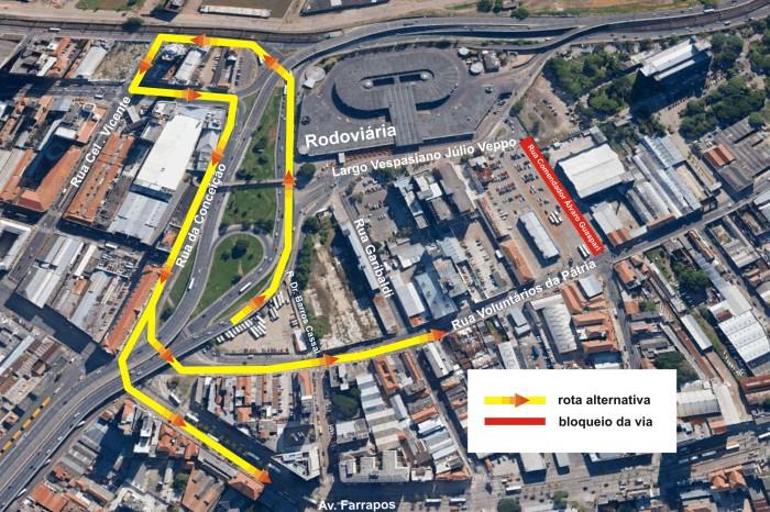 EPTC fará desvios no trânsito em função das obras no entorno Divulgação/PMPA