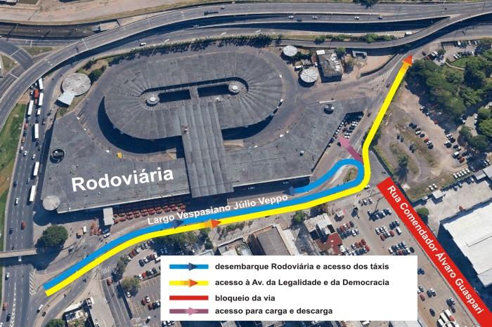 Equipes irão executar escavações próximo à Estação Rodoviária  Divulgação/PMPA