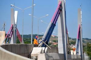 Serão seis faixas de tráfego, com extensão total de 540 metros em três níveis | Foto: André Ávila