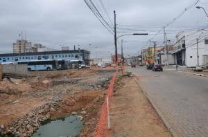 Obras na Voluntários estão entre as atrasadas | Foto: Tarsila Pereira