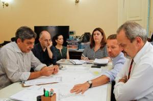 Vice-prefeito Sebastião Melo coordenou a reunião para agendar início das obras Foto: Luciano Lanes / PMPA