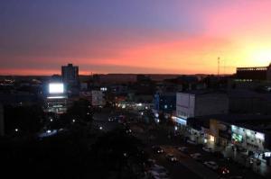 Extremo Sul do RS teve cores diferentes no pôr do sol desta sexta-feira | Foto: Daniel Badra/Especial CP