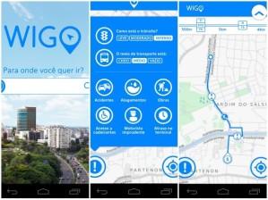 App Wigo guia usuários e mostra opções de rota em Porto Alegre (Foto: Reprodução)