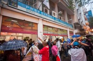 No ano passado, população de rua protestou em frente à Smed contra fechamento da EPA | Foto: Ramiro Furquim/Sul21