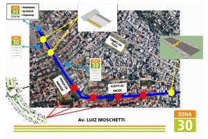 Projeto garantirá circulação mais segura, com limite de velocidade Foto: Divulgação/PMPA