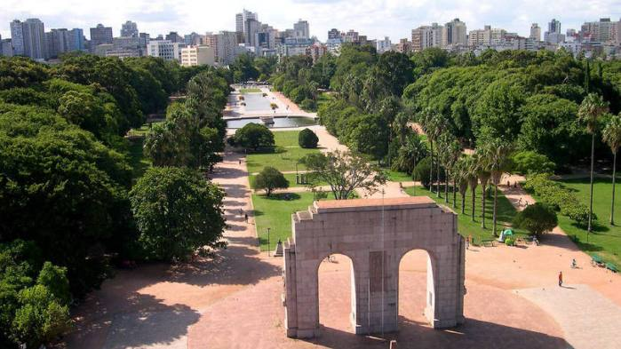 Parque em Porto Alegre, capital do Rio Grande do Sul.  Ricardo Stricher/Arquivo PMPA