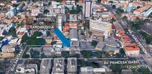 Instituto de Cardiologia terá novo prédio, o que duplicará o número de leitos. Imagem: Google