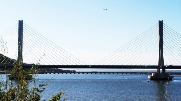 Estrutura tem 2.830 metros de comprimento e 52 vãos. (Foto: Geraldo Gê/Prefeitura de Laguna/Divulgação)