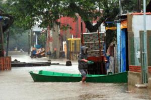Ilhas de Porto Alegre estão em alerta devido ao nível do Guaíba   Foto: Samuel Maciel