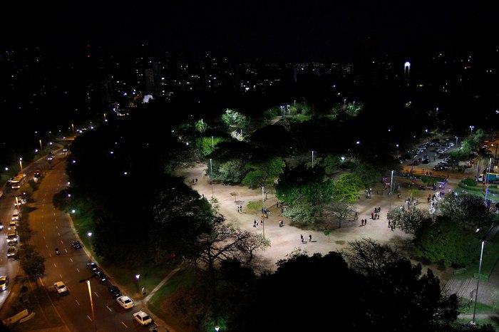 Número de pontos de luz passou de 90 para 347 no Parque Moinhos de Vento Foto: Ricardo Giusti/PMPA