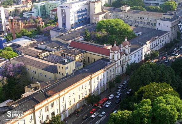 Vista parcial do Complexo da Santa Casa de Porto Alegre. Foto: Gilberto Simon