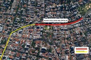 Faixa ficará junto ao canteiro central da via, entre a Lucas de Oliveira e a Ijuí
