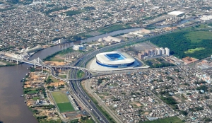 Arena do Grêmio - vista aérea. Foto: Portal Viajar pelo Mundo