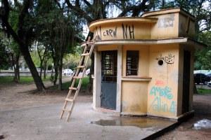 Prédio do antigo postinho será restaurado para receber a bilheteria Foto: Sérgio Louruz/Divulgação PMPA