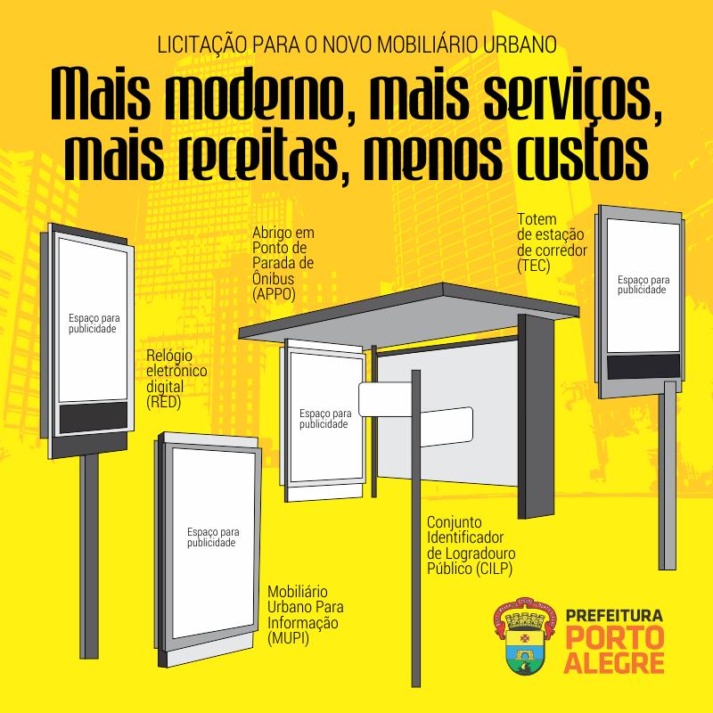 Prefeitura lan a licita o para qualificar mobili rio urbano for Mobiliario urbano tipos