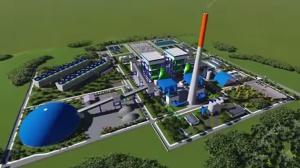 Imagem da futura Usina Termoelétrica. Captura de vídeo.