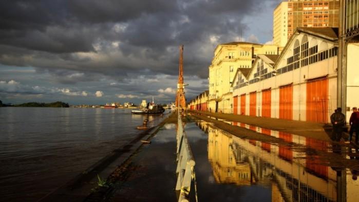 Marca crítica de transbordamento do Guaíba é de 3 metros (Foto: Lucas Uebel/O Sul)