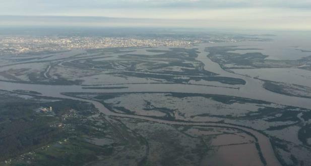 Nível da água chegou aos 2,94 metros no sábado | Foto: MetSul Meteorologia / Divulgação / CP