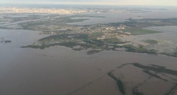 Moradores das ilhas foram aconselhados a sair de casa | Foto: MetSul Meteorologia / Divulgação / CP