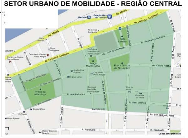 Mapa mostra área que seria atingida. Divulgação CMPA