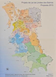 Mapa com divisão territorial prevista no projeto original