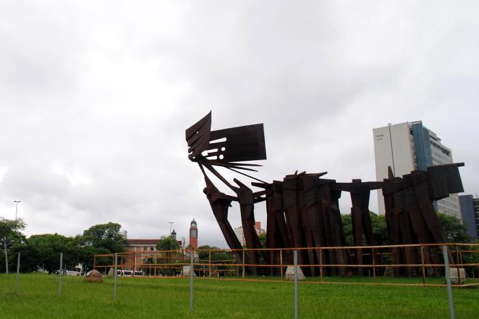Obra tem 17m de altura por 24m de comprimento Foto: Sérgio Louruz/Divulgação PMPA